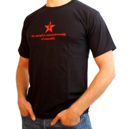 the people's commonwealth of cascadia men's black t-shirt