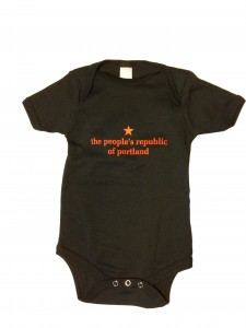 the people's republic of portland black onesie