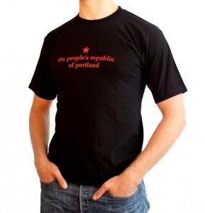 the people's republic of portland men's black t-shirt
