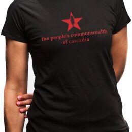 the people's commonwealth of cascadia women's black t-shirt