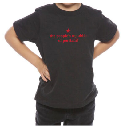 the people's republic of portland toddler black t-shirt