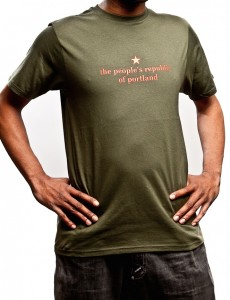 the people's republic of portland men's olive green t-shirt