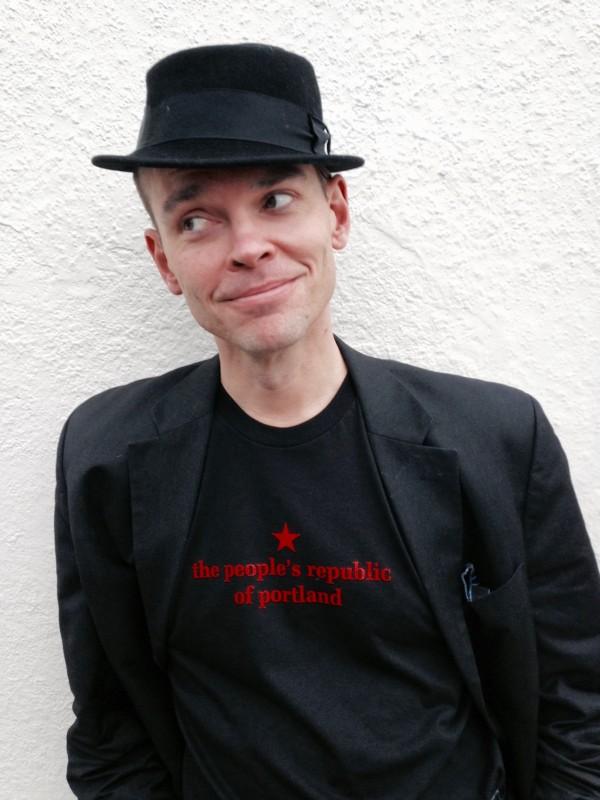 the people's republic of portland men's classic black t-shirt