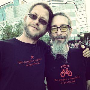 The People's Republic of Portland Men's Bike Tshirt